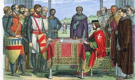 Drawing signing Magna Carta