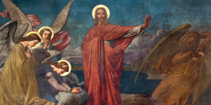 Jesus repels temptation of the Devil